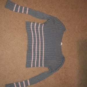 Garage crop knit sweater